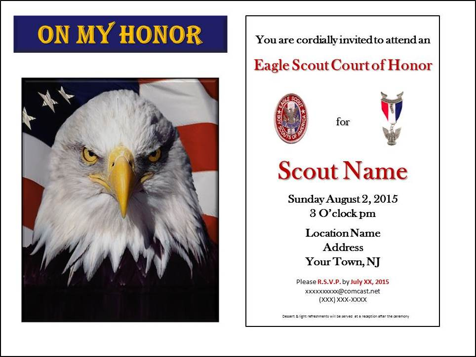 eagle scout powerpoint template - free eagle scout coh invitation program scoutworks